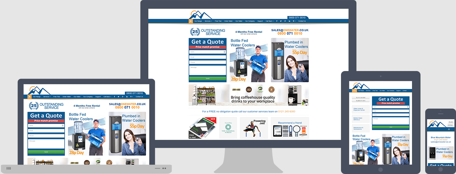 Blue Mountain Water Website Design