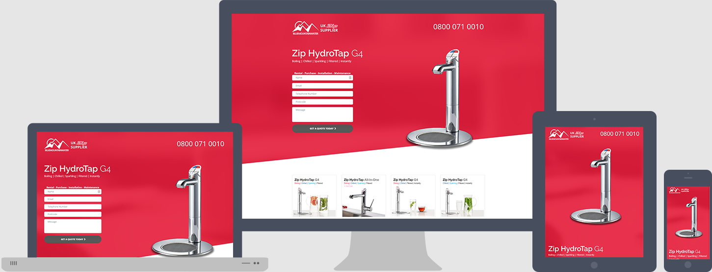 Zip Hydrotap G4 Website Design